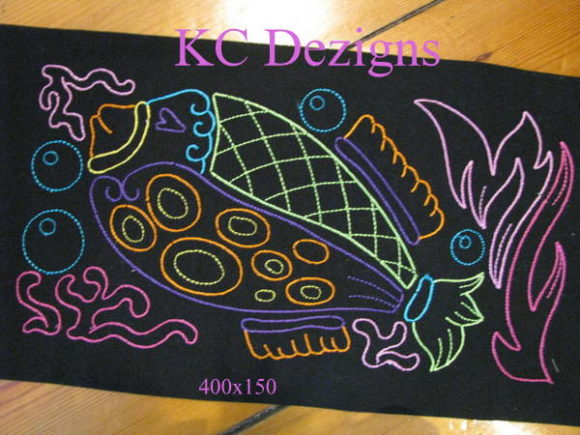 Colourline Fish 08 Fish & Shells Embroidery Design By karen50