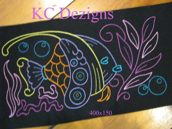 Colourline Fish 09 Fish & Shells Embroidery Design By karen50