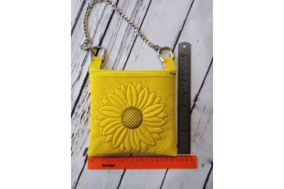 Cosmetic Bag in the Hoop - Sun Flower Embroidery Item