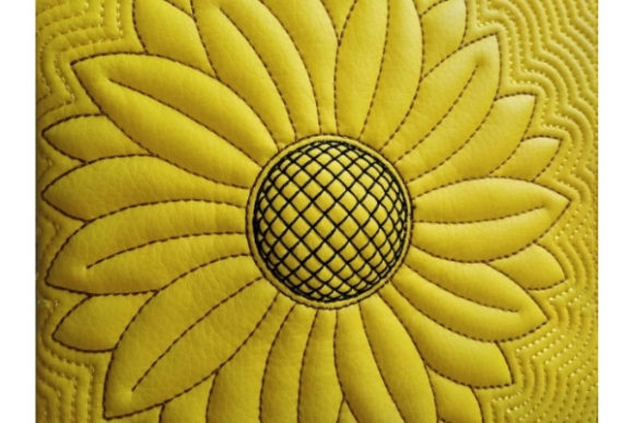 Cosmetic Bag in the Hoop - Sun Flower Embroidery Design