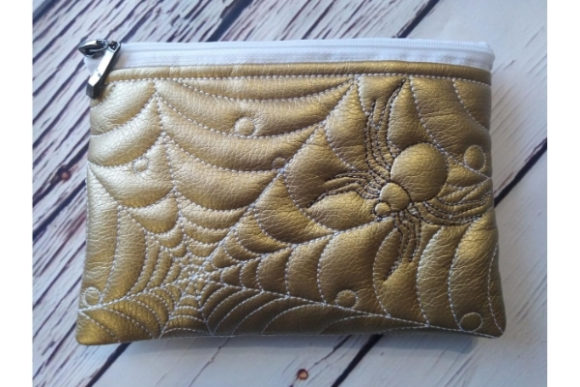 Cosmetic Bag - Spider Embroidery Download
