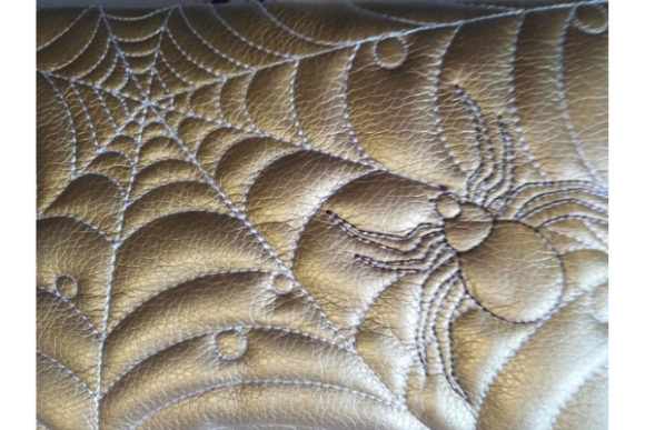 Cosmetic Bag - Spider Embroidery Design