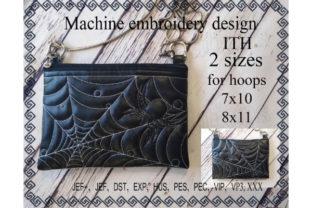 Cosmetic Bag – Spider Sewing & Crafts Embroidery Design By ImilovaCreations