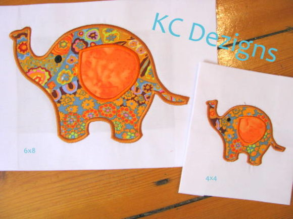 Cute Baby Elephant Baby Animals Embroidery Design By karen50