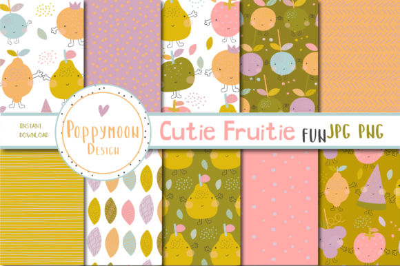 Print on Demand: Cutie Fruitie Fun Paper Graphic Patterns By poppymoondesign