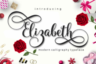 Print on Demand: Elizabeth Script & Handwritten Font By pujalettering
