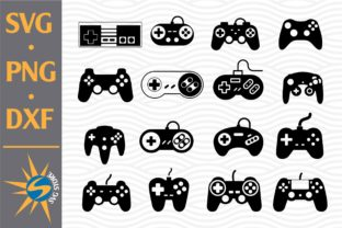 Print on Demand: Game Controller Silhouettes Graphic Crafts By SVGStoreShop
