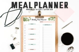 Print on Demand: Girly Meal Planner Template Graphic Print Templates By Creative Tacos