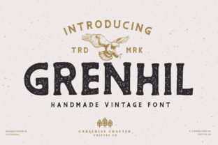 Print on Demand: Grenhil Display Font By vultype