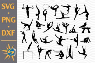 Print on Demand: Gymnastic Silhouettes Graphic Crafts By SVGStoreShop
