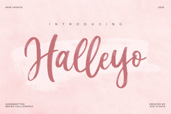 Print on Demand: Halleyo Script & Handwritten Font By Din Studio