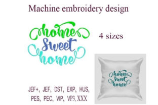 Home Sweet Home House & Home Quotes Embroidery Design By ImilovaCreations