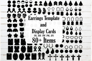 Huge Earrings and Jewelry Card Template Gráfico Crafts Por redearth and gumtrees