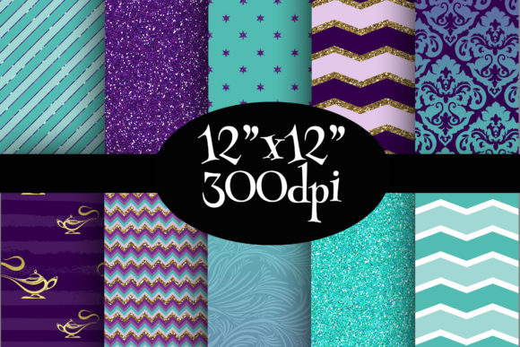 Print on Demand: Jasmine Inspired Digital Paper Pack Graphic Backgrounds By Party Pixelz