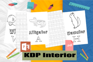 Kids Alphabets Handwriting Tracing Pages Graphic KDP Interiors By BM_Studio