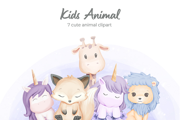 Kids Animal Vol.1 Graphic Illustrations By alolieli