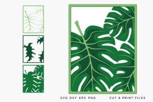 Monstera Leaves Multilayer Graphic 3D SVG By 2dooart