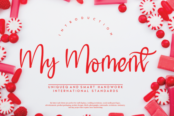 Print on Demand: My Moment Script & Handwritten Font By handmadetipe
