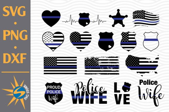 Print on Demand: Police American Flags Graphic Crafts By SVGStoreShop