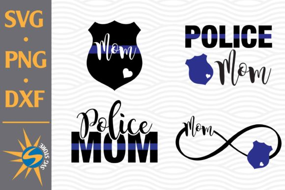 Print on Demand: Police Mom Graphic Crafts By SVGStoreShop