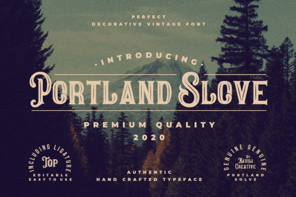 Print on Demand: Portland Slove Display Font By naulicrea