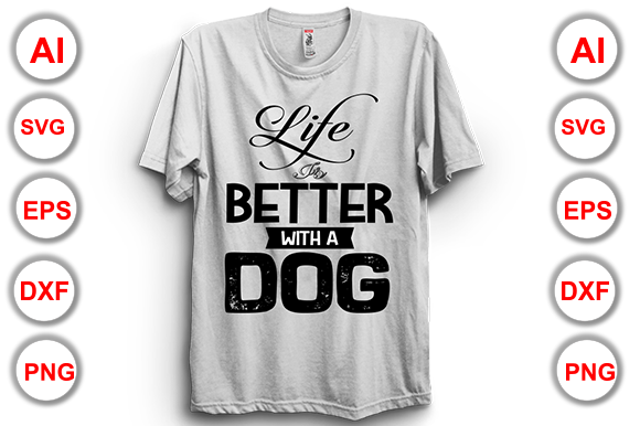 Printable Dog T-Shirt Design Graphic Print Templates By Graphics Cafe