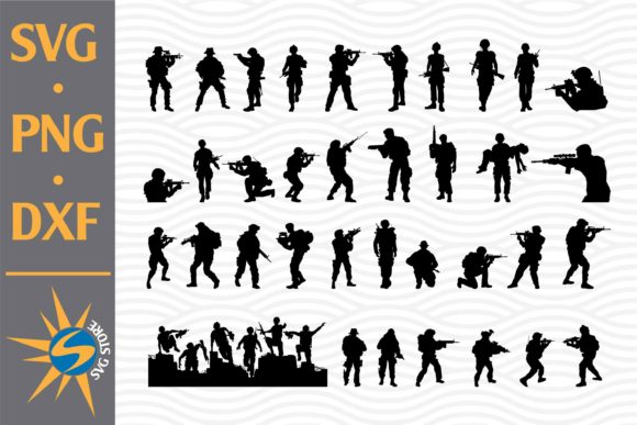 Print on Demand: Soldier Silhouettes Graphic Crafts By SVGStoreShop
