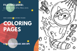 Print on Demand: Space Raccoon Coloring Page Graphic Coloring Pages & Books Kids By stanosh