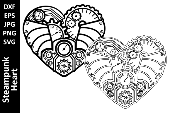 Steampunk Mechanical Heart Graphic Crafts By Oxyp