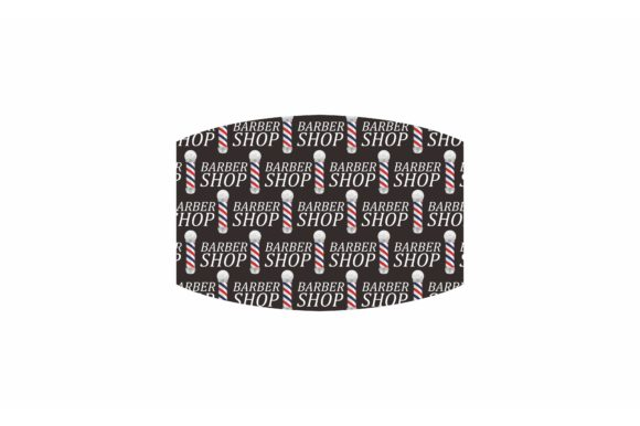 Sublimation Face Mask Barbershop Pattern Graphic Item