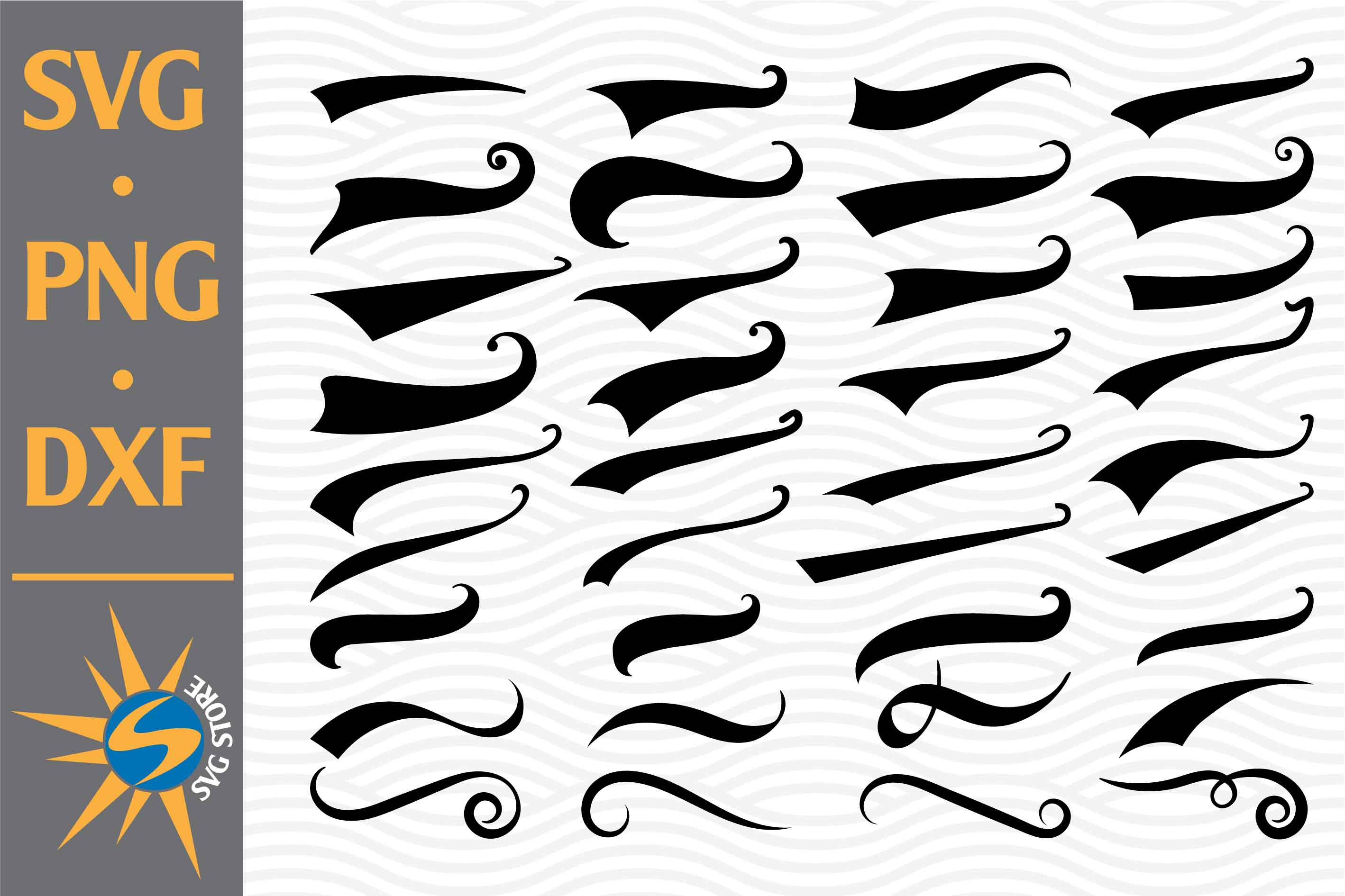 Swoosh Silhouettes SVG File
