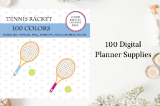 Tennis Racket Clipart, Fitness Icons Graphic Objects By Aneta Design