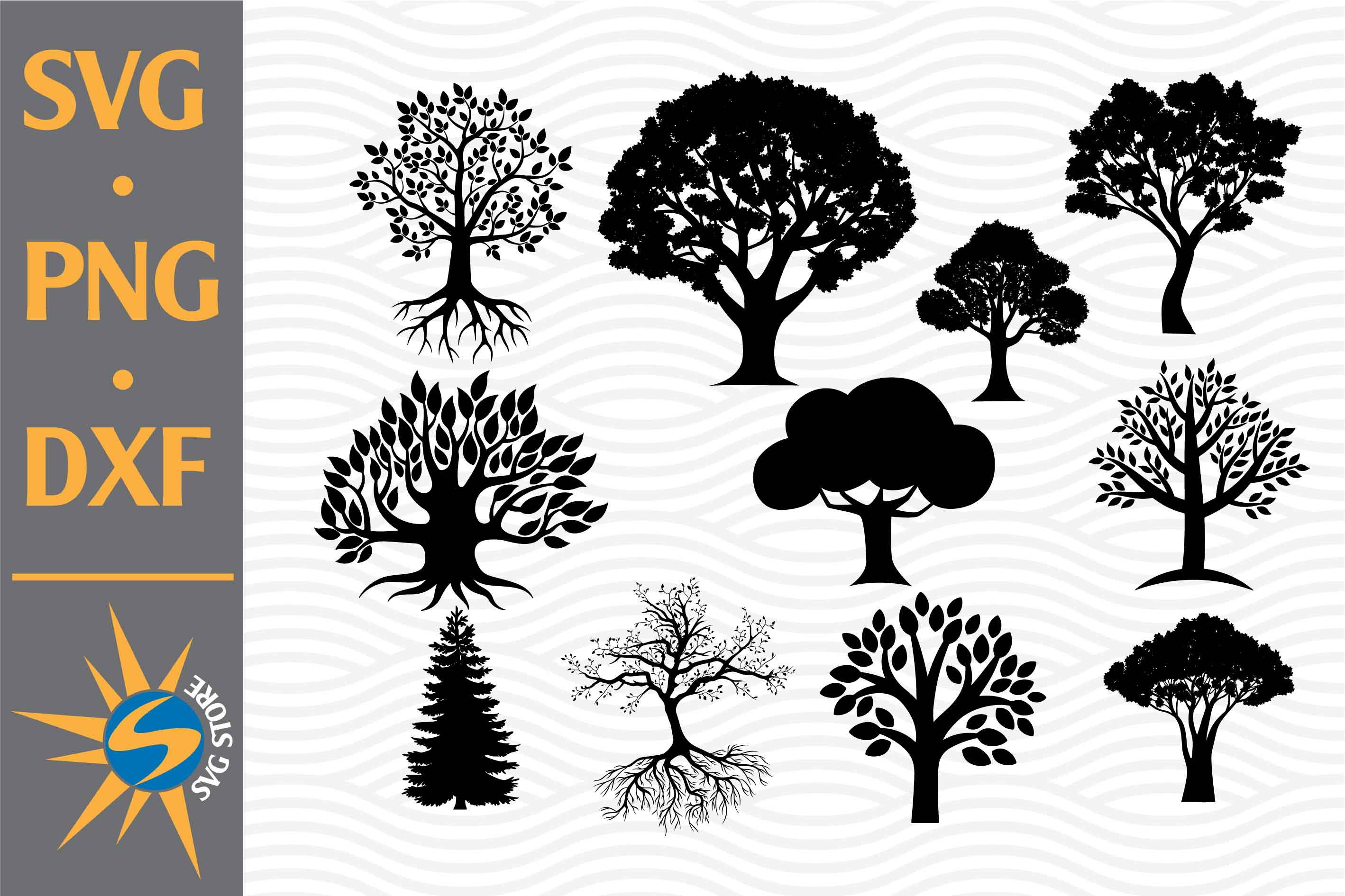 Tree Silhouettes SVG File