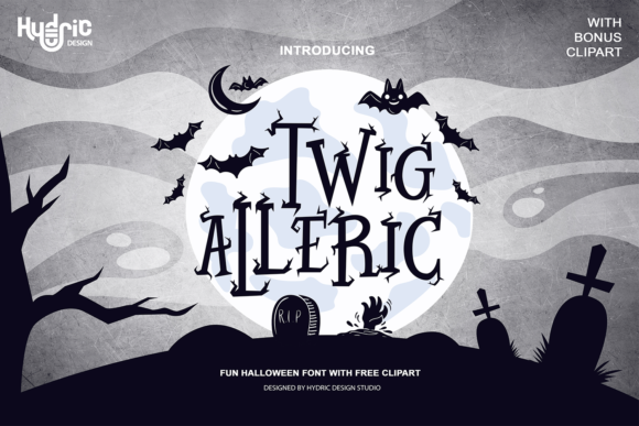 Print on Demand: Twig Alleric Display Font By Hydric Design