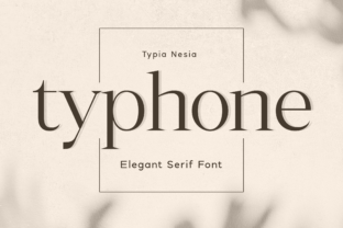 Print on Demand: Typhone Serif Font By Typia Nesia