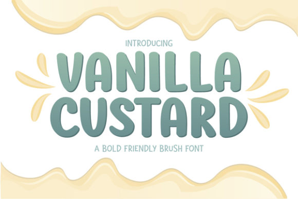 Print on Demand: Vanilla Custard Display Font By Archetype Fonts