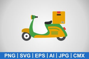 Print on Demand: Vector Delivery Motorbike Icon Graphic Icons By IYIKON