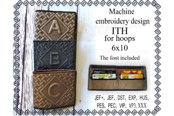 Wallet for Banknotes in the Hoop Sewing & Crafts Embroidery Design By ImilovaCreations