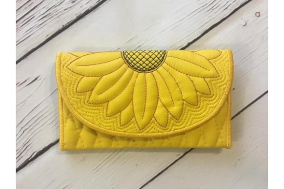 Wallet in the Hoop Embroidery Design