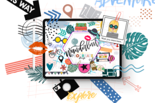 Wanderlust Stamp Pack for Procreate Graphic Brushes By OkayAnnie Designs
