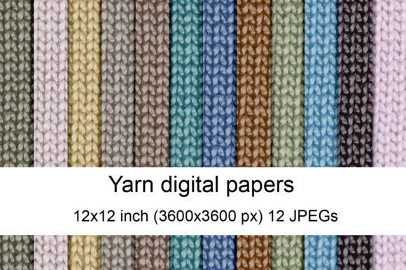 Print on Demand: Yarn Digital Papers Graphic Textures By Andrea Kostelic