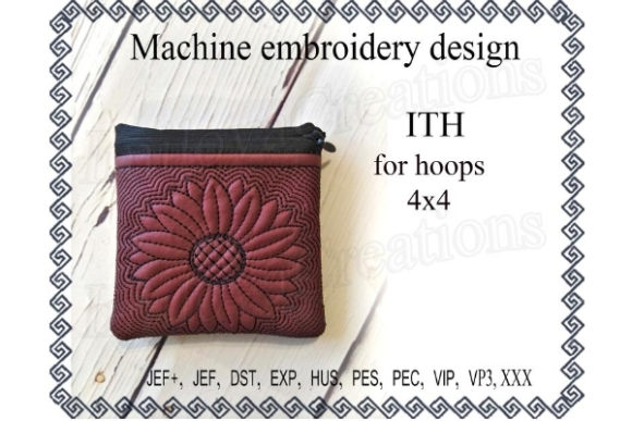 Zippered Bag in the Hoop - Sun Flower Sewing & Crafts Embroidery Design By ImilovaCreations