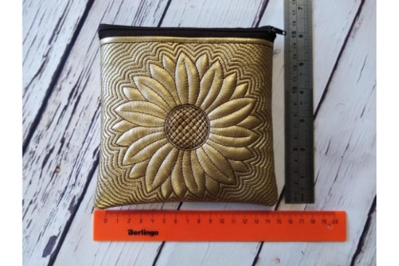 Zippered Bag in the Hoop - Sun Flower Embroidery Item
