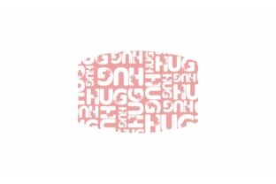 Print on Demand: Pink Sublimation Face Mask Hug Pattern Graphic Crafts By Arief Sapta Adjie