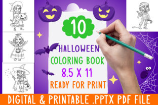 Print on Demand: 10 Princesses Halloween Coloring Book Graphic Coloring Pages & Books Kids By DesignsBundles