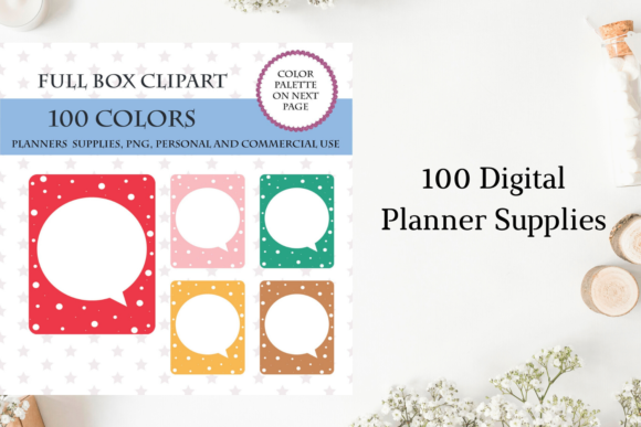 100 Full Box Weekly Checklist- Dots Graphic Objects By Aneta Design