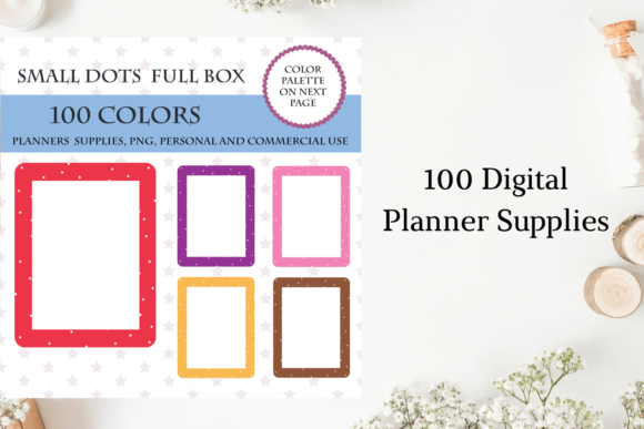 100 Full Box Weekly Checklist Graphic Objects By Aneta Design