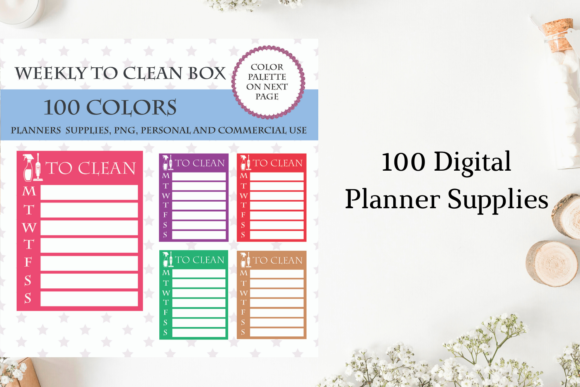 100 Full Box Weekly to Clean Graphic Objects By Aneta Design