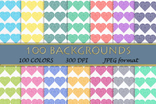 100 Heart Pattern Digital Papers Graphic Backgrounds By SweetDesign
