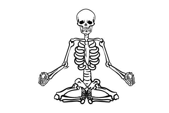 Skeleton Yoga Yoga & Meditation Craft Cut File By Creative Fabrica Crafts
